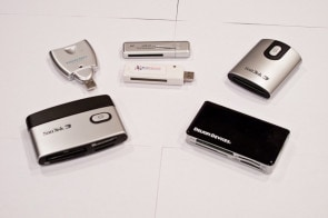 selection of CF card readers