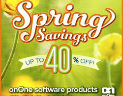 onOne Spring Sale 2013