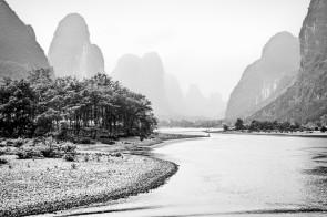 Li River Scene 5 BW