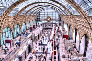 Interior of the main hall of the Musee d'Orsay, Paris, France.