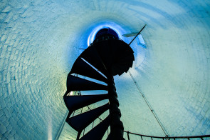 The Only Way Is Up, the staircase inside the Key West Lighthouse, Florida.