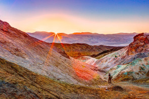 Sunset from the Artists Palette, Death Valley National Park.