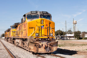 Union Pacific 5950 locomotive at Katy, TX.